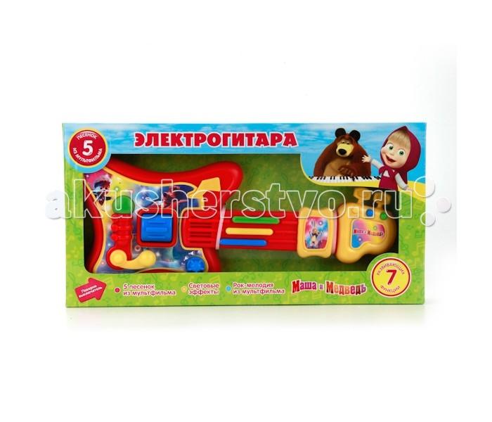 Музыкальные игрушки Играем вместе Электрогитара Маша и Медведь 5 песен играем вместе электрогитара со светом маша и медведь играем вместе