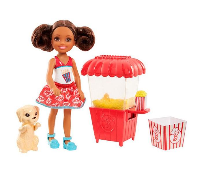 Куклы и одежда для кукол Barbie Mattel Кукла Челси и щенок mattel barbie барби с летающим котом попкорном