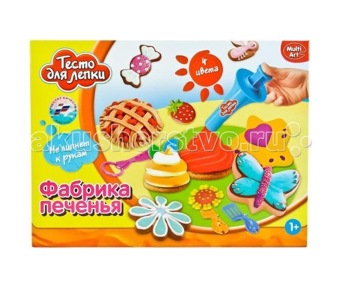 Всё для лепки Multiart Тесто для лепки. Фабрика печенья всё для лепки multiart классический восковый disney тачки 12 цветов