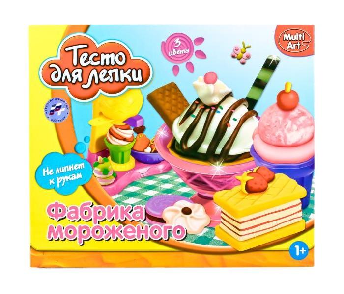 Всё для лепки Multiart Тесто для лепки. Фабрика мороженного всё для лепки multiart классический восковый disney тачки 12 цветов