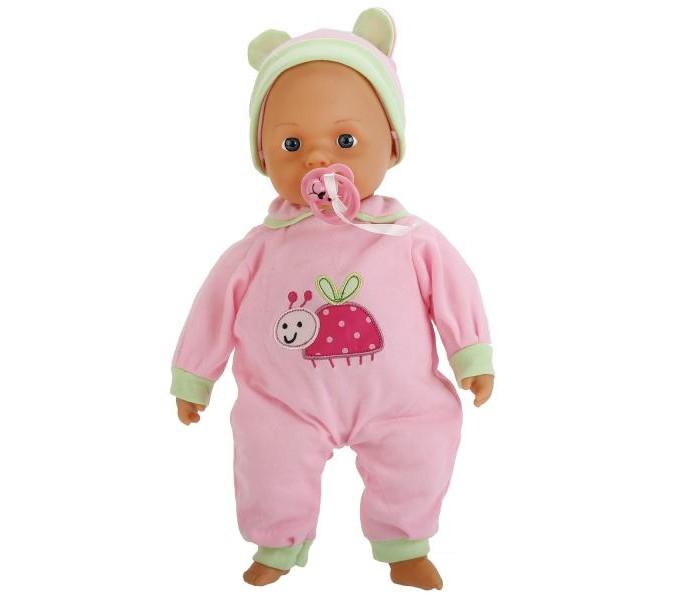 Куклы и одежда для кукол Карапуз Кукла Пупс 38 см куклы карапуз пупс карапуз 20см 3 функции пьет писает закрывает глазки в ванне с аксессуарами