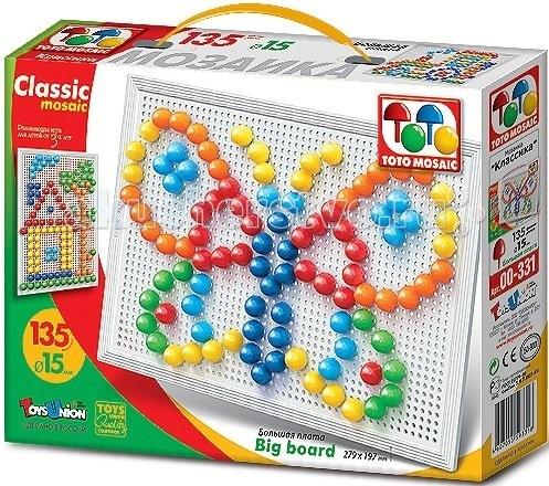 Мозаика ToysUnion Мозаика Классика 135 элементов d. 15 большая плата toysunion мозаика с аппликацией водный мир