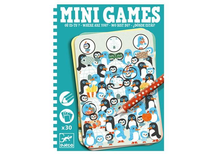 Игры для школьников Djeco Мини игра Где ты? настольные игры djeco мини игра судоку
