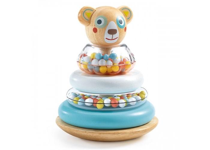 Деревянные игрушки Djeco Пирамидка Мишка 06104 игрушка пирамидка мишка топтыжка
