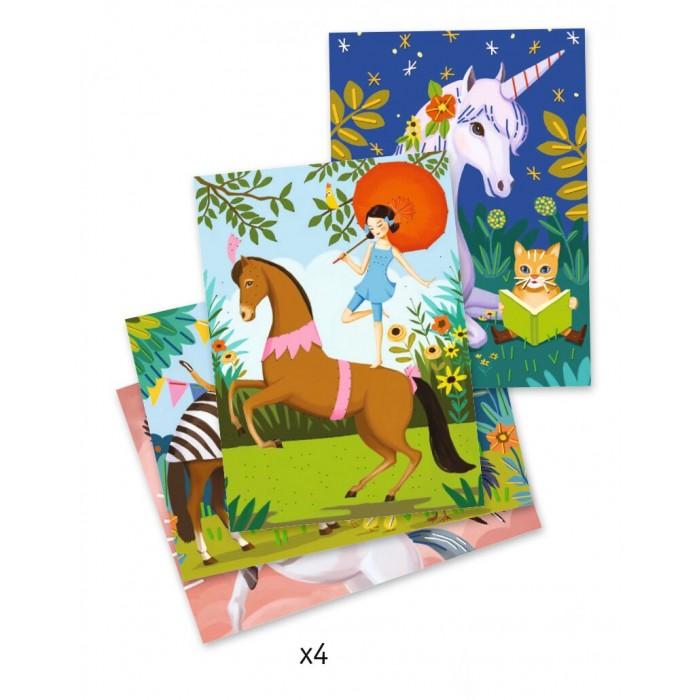 Наборы для творчества Djeco Набор для творчества Сказочные лошадки наборы для творчества eastcolight набор для исследований tele science 35 предметов