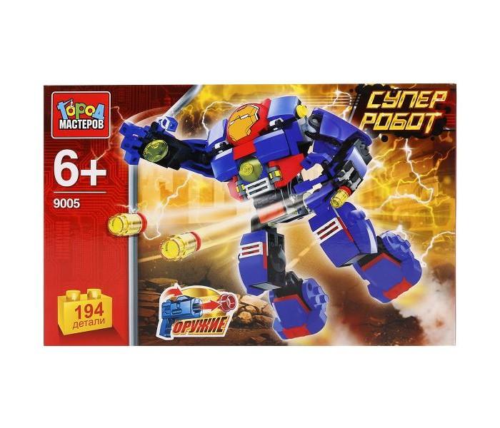 Конструкторы Город мастеров Супер робот (194 детали) книга мастеров