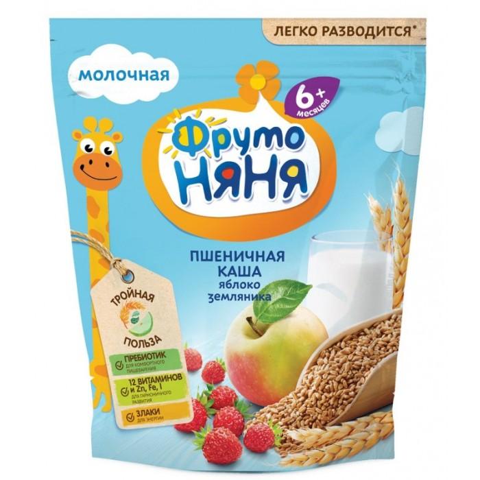 цена на Каши ФрутоНяня Молочная пшеничная каша с яблоком и земляникой с 6 мес. 200 г