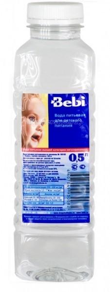 Фото Вода Bebi Вода детская питьевая с 0 мес. 0.5 л
