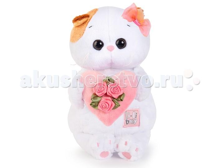 Мягкие игрушки Budi Basa Кошечка Ли-Ли Baby с розовым сердечком 20 см budi basa мягкая игрушка ли ли baby 20 см