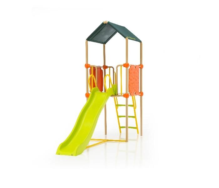 Kettler Детский игровой комплекс Play TowerДетский игровой комплекс Play TowerKettler Детский игровой комплекс Play Tower легко впишется в любой интерьер и украсит лужайку возле дома. Play Tower превратит отдых малышей в невероятное приключение и обеспечит гармоничное физическое развитие ребенка, будет способствовать развитию координации движений и ловкости.   Детская горка имеет волнистый скат. С одной стороны, это немного снижает скорость на более выпуклых местах, но добавляет безопасности. А с другой стороны, когда скатываешься по волнистому желобу, дух захватывает сильнее, да и веселья больше. Детская горка в своей конструкции имеет каркас из металлических труб.   Широкие рифленые ступеньки горки, сделанные из противоскользящего материала, уберегут ребенка от случайного падения. Закругленные формы и полное отсутствие острых углов является еще одним достоинством этого игрового комплекса. В комплект также включены анкеры для бетонирования стоек. Это очень важно для устойчивости комплекса и, соответственно, безопасности Ваших детей.  Особенности: Башня с высококачественной пластиковой обшивкой Верх башни покрыт прочной тканью Длина горки - 190 см Широкие рифленые ступеньки для легкого подъема и спуска Максимальная нагрузка - 200 кг Дополнительно можно установить качели В комплекте 4 анкера для крепления в бетоне Максимальное количество детей: 4, на каждого ребенка до 50 кг Размеры башни: 87,5 х 289,5 х 242 см. Размер и вес товара в упакованном виде: Упаковка 1: Размеры: 204.5 х 41.5 х 16 см, вес: 42 кг Упаковка 2: Размеры: 95 х 44,5 х 18 см, вес: 22 кг Упаковка 3: Размеры: 193.5 х 43 х 29 см, вес: 15 кг.<br>
