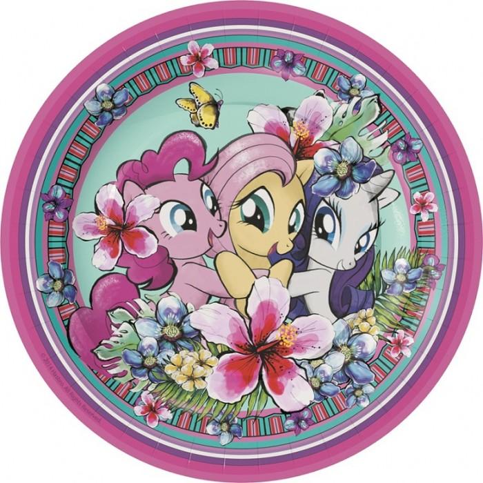 Товары для праздника Май Литл Пони (My Little Pony) Набор тарелок 6 шт. 18 см 34608 4 май петс заколка бирюзовая для собак 4 my pets 1 шт page 6