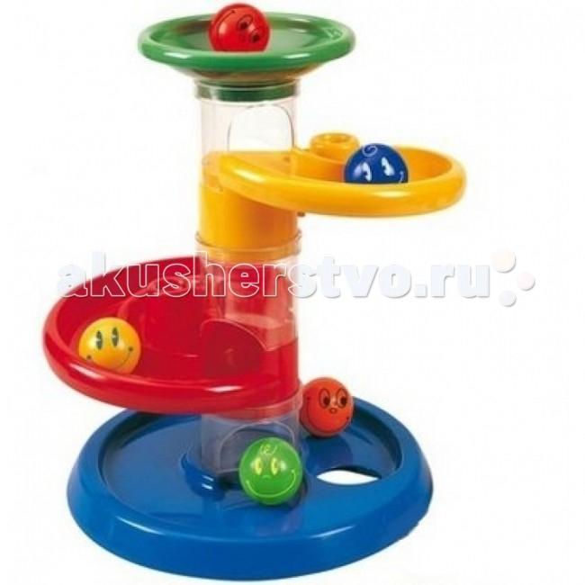 Конструктор Tototoys 801 Крутые виражи Rollipop (7 деталей + 5 шаров)801 Крутые виражи Rollipop (7 деталей + 5 шаров)Конструктор TOTOTOYS 801 Крутые виражи Rollipop 7 Дет. + 5 Шаров.  Конструктор TOTOTOYS Роллипоп 7 Деталей + 5 Шаров может стать первым конструктором ваших детей, ведь с ним можно играть начиная с 9 месяцев. C помощью конструктора можно построить простой лабиринт, по которому будут кататься шарики. Сначала нужно соединить цветные детали, создавая лабиринт для шариков, а затем смотреть, как шарики катятся по созданной трассе. Малышу будет очень весело запускать в лабиринт шарики и смотреть, как они крутятся, падают и съезжают с горки.  В конструкторе крупные детали, поэтому малышу будет удобно играть с ними. В комплекте трубки для построения вертикалей, воронка, круговые дорожки, шарики диаметром 4,5 см. На шариках нарисованы симпатичные рожицы, которые будут улыбаться малышу во время игры. Конструктор Роллипоп 7 Деталей + 5 Шаров отлично развивает пространственное и логическое мышление, воображение, концентрацию внимания, мелкую моторику рук, цветовое и звуковое восприятие.<br>