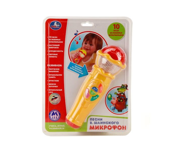 Музыкальные игрушки Умка Микрофон с песнями В. Шаинского 7043 ночники умка музыкальный ночник проектор волшебный мир