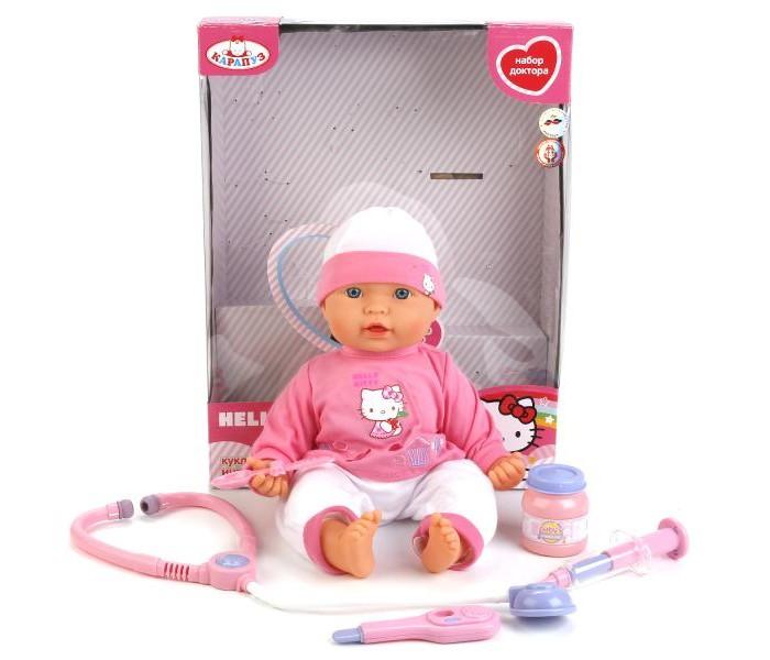 Куклы и одежда для кукол Карапуз Кукла Пупс Hello Kitty 9 функций 30 см куклы карапуз пупс карапуз hello kitty 20 см 3 функции пьет писает закрывает глазки с аксессуарами