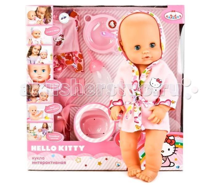 Куклы и одежда для кукол Карапуз Кукла Пупс Hello Kitty 40 см куклы карапуз пупс карапуз hello kitty 20 см 3 функции пьет писает закрывает глазки с аксессуарами
