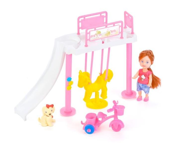 Куклы и одежда для кукол Карапуз Кукла Hello Kitty Машенька с игровой площадкой тостер kitchenaid 5kmt 221 eac