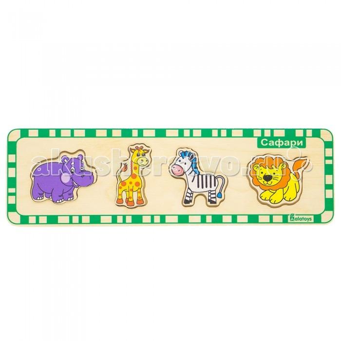 Деревянные игрушки Alatoys Пазлы Сафари пазлы бомик пазлы книжка репка