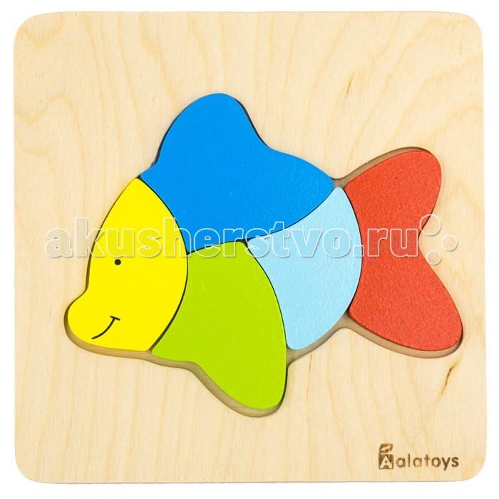 Деревянные игрушки Alatoys Пазлы Рыбка