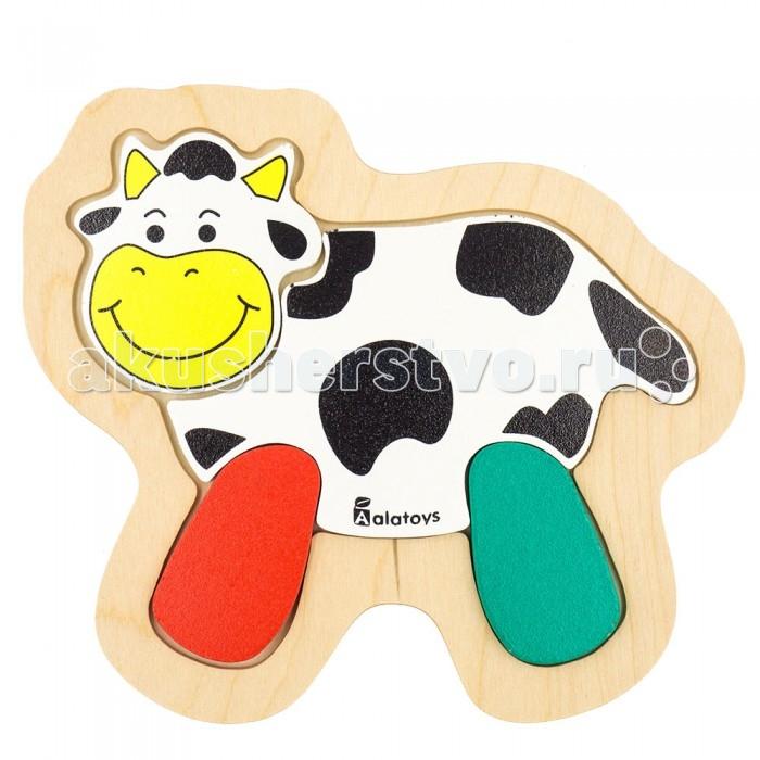 Деревянные игрушки Alatoys Пазлы Корова пазлы бомик пазлы книжка репка