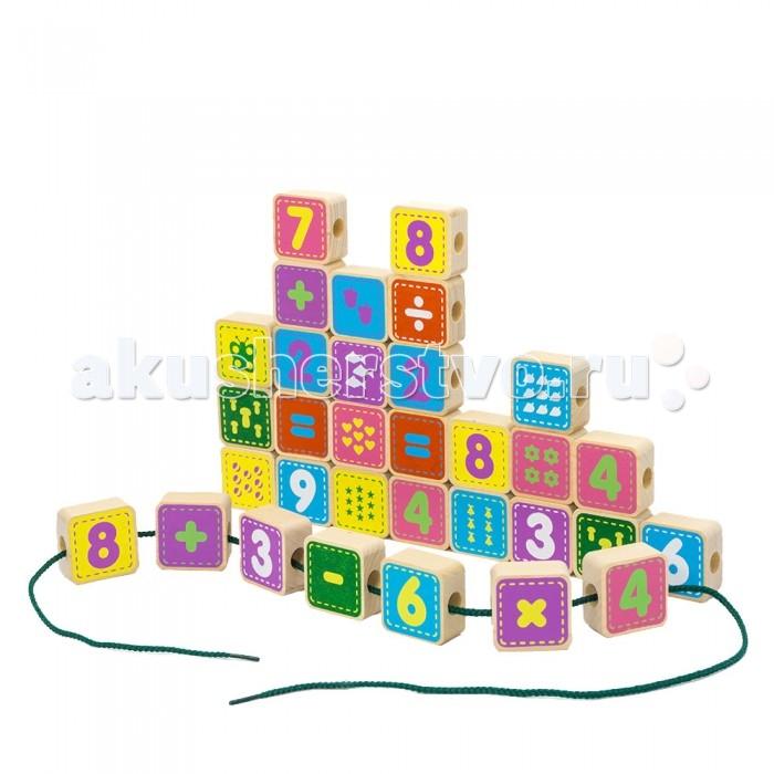 Деревянные игрушки Alatoys Шнуровка цифры 50 деталей деревянные игрушки alatoys пазлы собачки