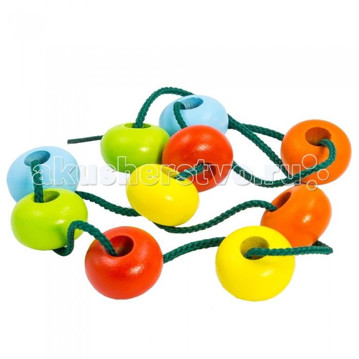 Деревянные игрушки Alatoys Шнуровка Шайбы цветные деревянные игрушки alatoys пазлы собачки