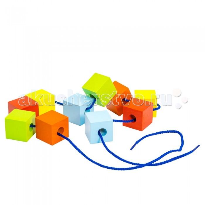 Деревянные игрушки Alatoys Шнуровка Кубики цветные развивающие деревянные игрушки кубики азбука