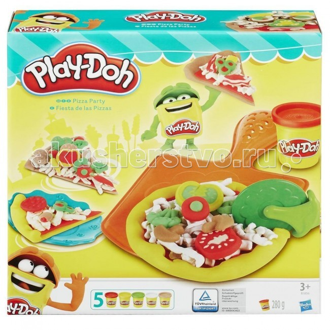 Всё для лепки Play-Doh Hasbro Набор Пицца play doh игровой набор магазинчик домашних питомцев