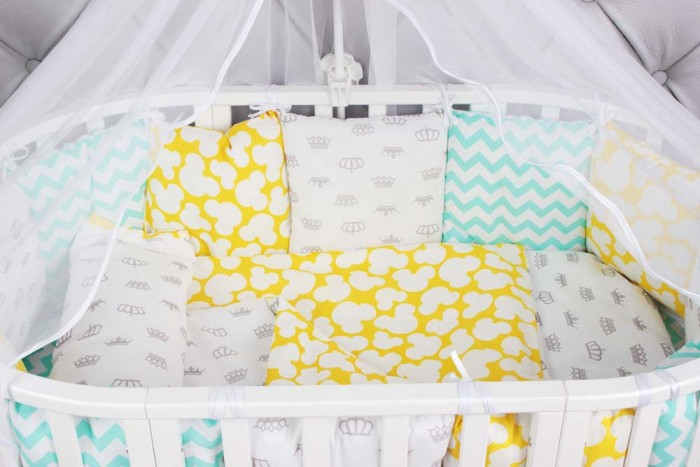 Комплект в кроватку AmaroBaby Happy Baby (15 предметов)