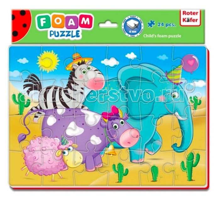 Пазлы Roter Kafer Мягкие пазлы А4 Зоопарк 24 элемента пазлы мягкие репка 27х15 5х2см