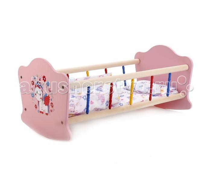 Кроватки для кукол Карапуз Милый пони RB-P-P карапуз любимый пони