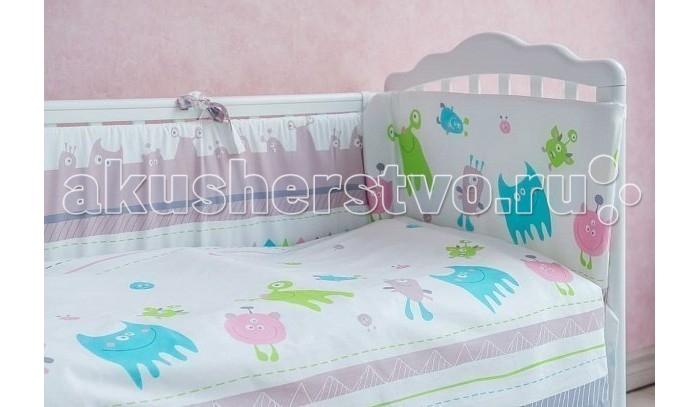Постельные принадлежности , Бортики в кроватку Polini Монстрики в кроватку 140х70 см арт: 477176 -  Бортики в кроватку