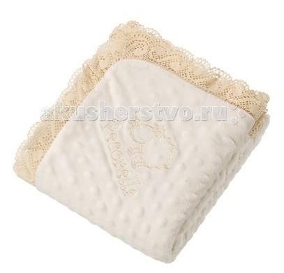 Пледы Pecorella Плед для новорожденного Merletto Vanilla pecorella зимний меховой конверт pecorella