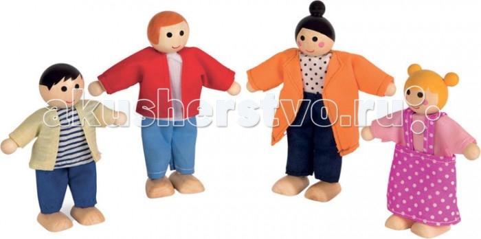 Деревянные игрушки Janod Набор куколок 4 шт. платья для мамы и дочки в спб