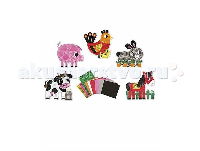 Наборы для творчества Janod Набор для творчества День на ферме мозаика наборы для творчества eastcolight набор для исследований tele science 35 предметов