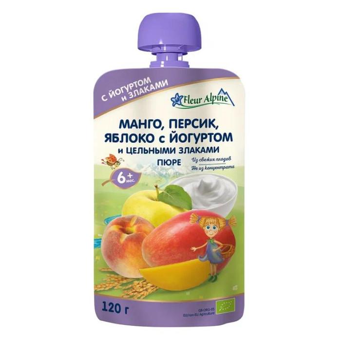 Купить Fleur Alpine Пюре Органик манго-персик-яблоко-йогурт с 6 мес. 120 г (пауч) в интернет магазине. Цены, фото, описания, характеристики, отзывы, обзоры