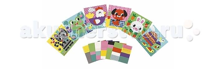 Наборы для творчества Janod Набор для творчества Животные картина наклейками janod пазл я мама 4 в 1