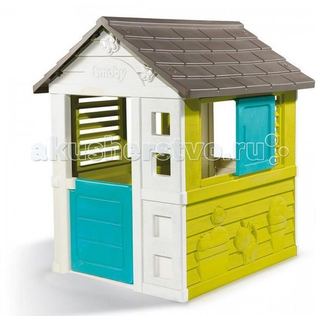 Simba Игровой домик BGИгровой домик BGИгровой домик Simba BG подходит для размещение дома и на улице.  Особенности: Дверь и окно открываются Сверхпрочный пластик Легкая сборка Французское производство Не выгорает на солнце  Размеры: 98 х 111 х 127 см<br>