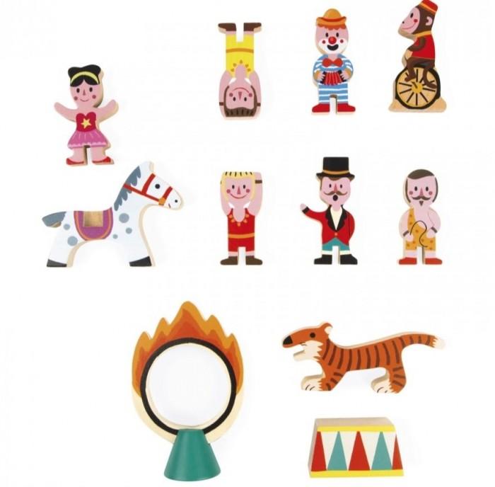 Деревянные игрушки Janod Набор фигурок Маленькие истории Цирк