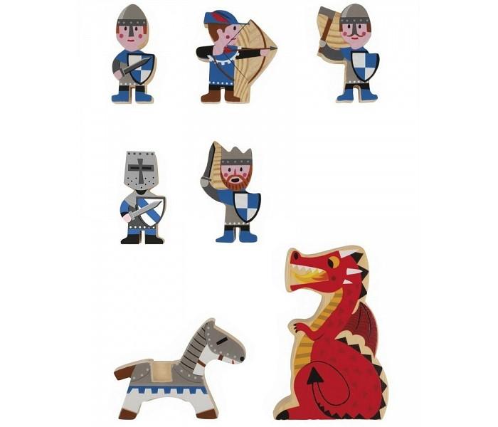 Деревянные игрушки Janod Набор фигурок Маленькие истории Рыцари