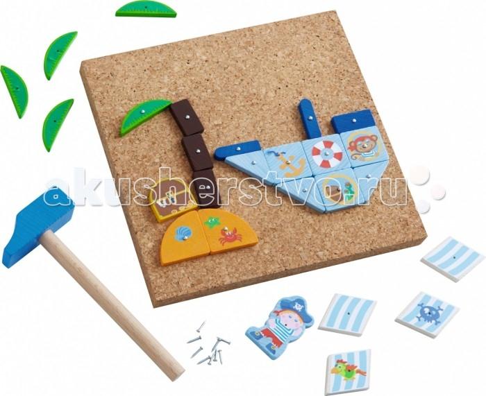Игры для малышей Haba Набор Пиратский корабль, Игры для малышей - артикул:478341