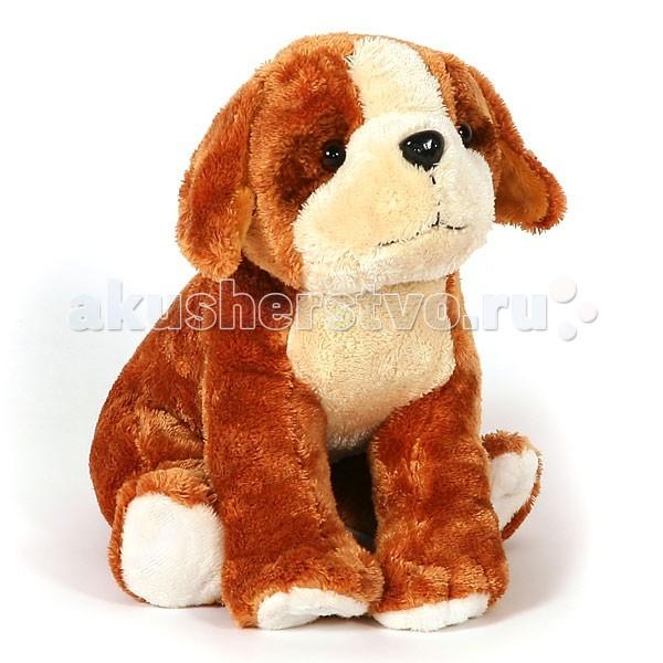 Мягкие игрушки Heitmann Felle Сидящий плюшевый щенок - сенбернар, 27см  сенбернар щенок schleich