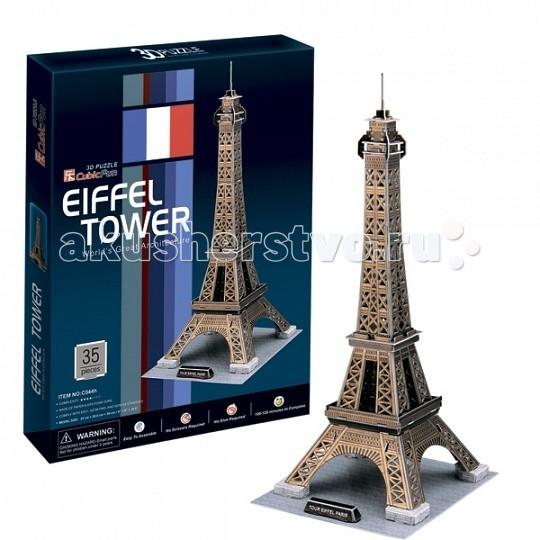 Сборные модели CubicFun 3D пазл Эйфелева Башня (Франция) ravensburger контурный пазл эйфелева башня 960 шт