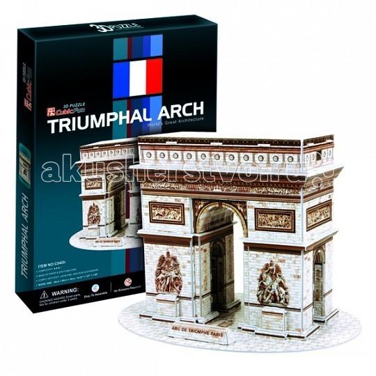 Конструкторы CubicFun 3D пазл Триумфальная арка (Франция) cubicfun 3d пазл эйфелева башня 2 франция cubicfun 33 детали
