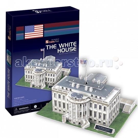 Конструкторы CubicFun 3D пазл Белый дом (США) пазл 3d cubicfun 3d пазл статуя свободы сша 39 элементов