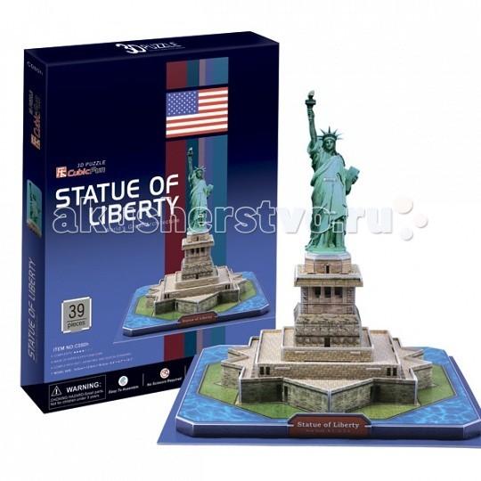 Конструкторы CubicFun 3D пазл Статуя Свободы (США) пазл 3d cubicfun 3d пазл статуя свободы сша 39 элементов
