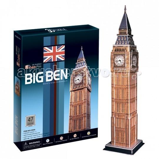 Конструкторы CubicFun 3D пазл Биг бен (Великобритания) пазлы magic pazle объемный 3d пазл эйфелева башня 78x38x35 см