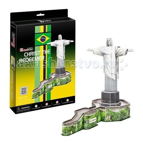 Конструкторы CubicFun 3D пазл Статуя Христа-Искупителя (Бразилия) конструкторы cubicfun 3d пазл эйфелева башня франция