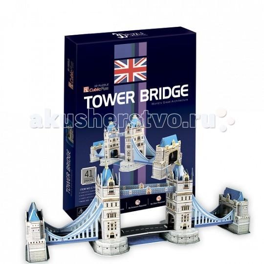 Конструкторы CubicFun 3D пазл Таэурский мост (Великобритания) конструкторы cubicfun 3d пазл эйфелева башня 2 франция