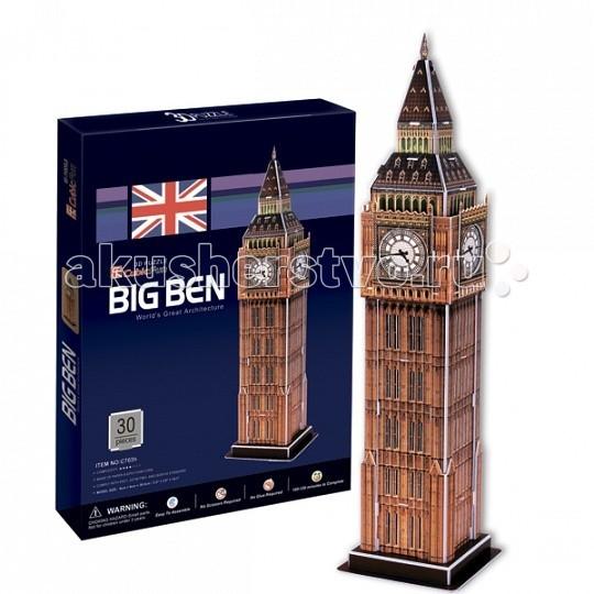 Конструкторы CubicFun 3D пазл Биг бен 2 (Великобритания) cubicfun 3d пазл эйфелева башня 2 франция cubicfun 33 детали