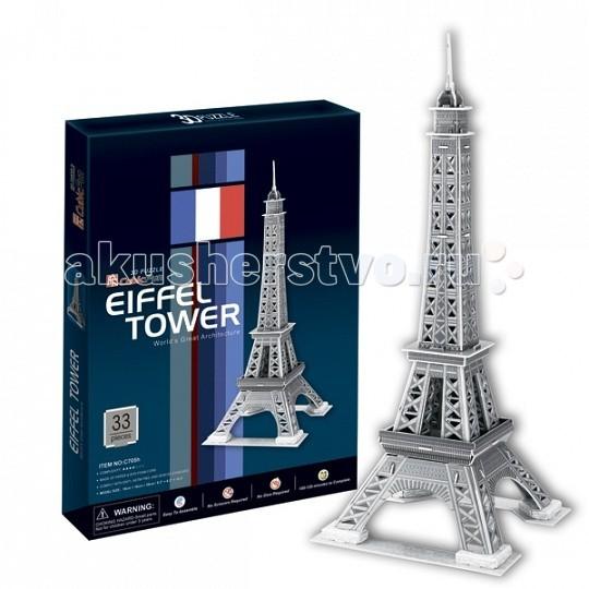 Конструкторы CubicFun 3D пазл Эйфелева Башня 2 (Франция) cubicfun 3d пазл эйфелева башня 2 франция cubicfun 33 детали